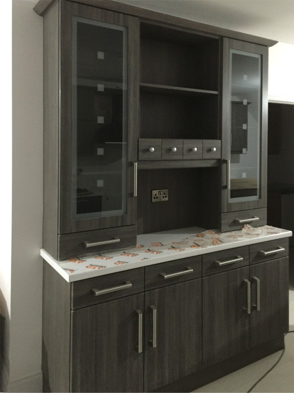 Ireland Walnut Finished Kitchen Dresser Designed And Fitted By Barrett  Kitchens County Donegal Kitchen Units Dressers