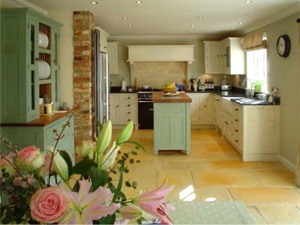 Image Result For Green Kitchens With