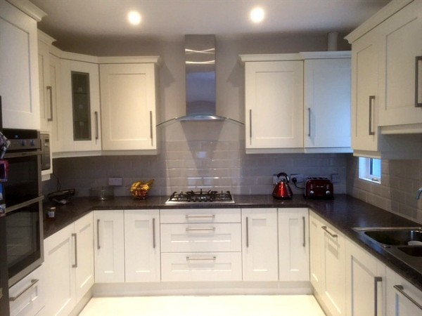 Hand Painted ivory kitchen designed and fitted by Barret Kitchens, Letterkenny, Co. Donegal.