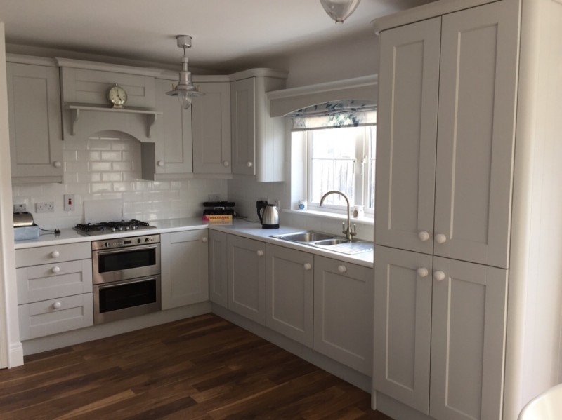 Light grey painted kitchen