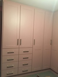 Wardrobe painted pink